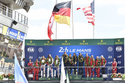 LMGTE Am podium: winners Christian Ried, Julien Andlauer, Matt Campbell, Proton Competition, second place Thomas Flohr, Francesco Castellacci, Giancarlo Fisichella, Spirit of Race, third place #85Ben Keating, Jeroen Bleekemolen, Luca Stolz, Keating Motorsp