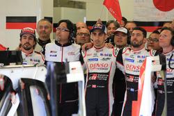 Mike Conway, Jose Maria Lopez, Sébastien Buemi, Fernando Alonso, Toyota Gazoo Racing