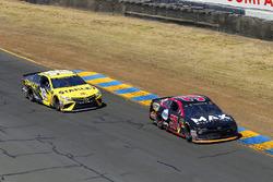 Chris Buescher, JTG Daugherty Racing, Chevrolet Camaro Maxwell House Max and Daniel Suarez, Joe Gibbs Racing, Toyota Camry STANLEY