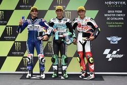 Le Top 3 des qualifications : Jorge Martin, Del Conca Gresini Racing Moto3, Enea Bastianini, Leopard Racing, Tatsuki Suzuki, SIC58 Squadra Corse