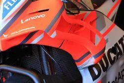 Appendices aérodynamiques sur une Ducati