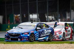 Tim Blanchard, Brad Jones Racing Holden, leads James Golding, Garry Rogers Motorsport Holden