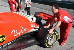 Ferrari SF71H : vue détaillée de l'arrière