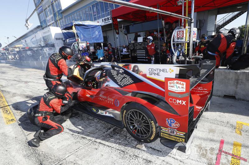 #38 Performance Tech Motorsports ORECA LMP2, P: James French, Kyle Masson, Joel Miller, Patricio O'Ward, pit stop