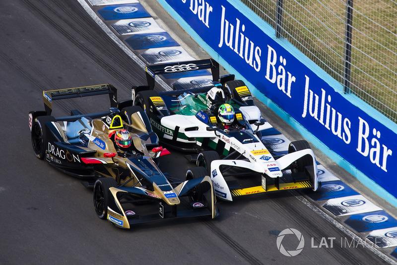 Lucas di Grassi, Audi Sport ABT Schaeffler tente de dépasser Jean-Eric Vergne, Techeetah