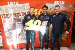 Mathieu Baumel, Nasser Al Attiyah and Jean-Marc Fortin