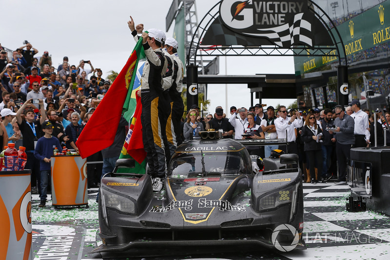 #5 Action Express Racing Cadillac DPi, P: Joao Barbosa, Christian Fittipaldi, Filipe Albuquerque Celebrate Win