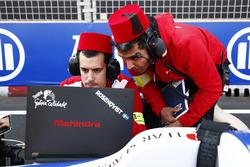 Mahindra Racing team members on the grid