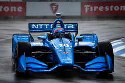 Ed Jones, Chip Ganassi Racing Honda en qualifications sous la pluie
