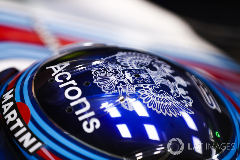 The helmet of Sergey Sirotkin, Williams