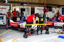 Garage of Felix Rosenqvist, Mahindra Racing, Nick Heidfeld, Mahindra Racing