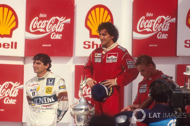 Ganador del GP de Brasil 1987: Alain Prost, McLaren TAG Porsche