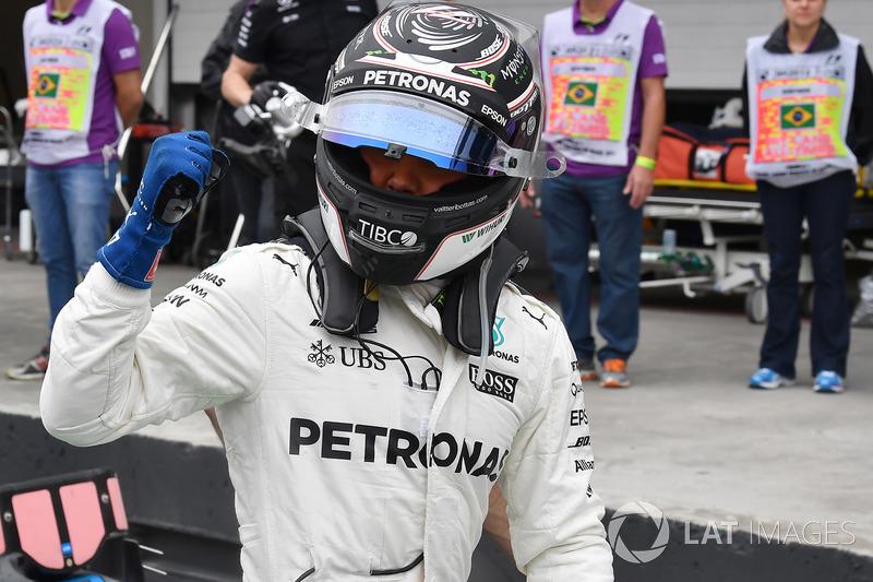 Pole Valtteri Bottas, Mercedes AMG F1, parc ferme