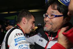 Yarış galibi Sébastien Buemi, Toyota Gazoo Racing, Hisatake Murata, TMG Team President