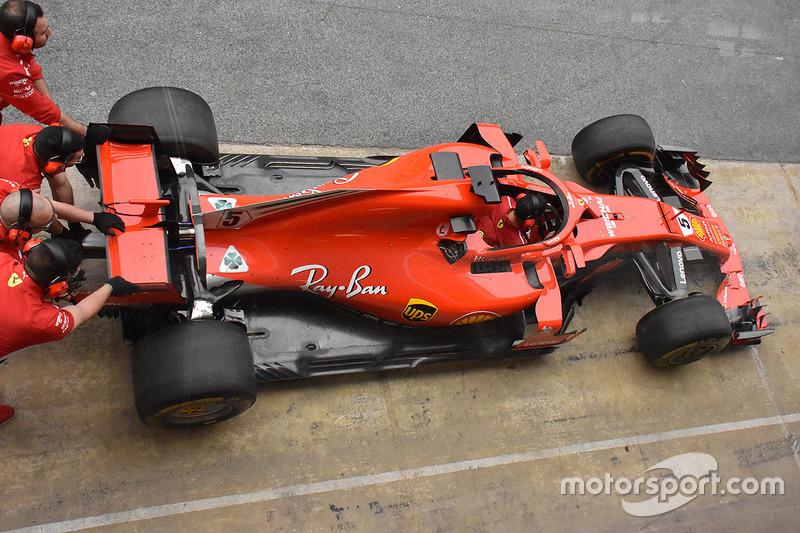 Ferrari SF71H aynalı halo