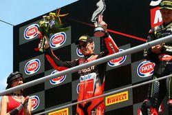 Podium: segundo, Chaz Davies, Aruba.it Racing-Ducati SBK Team