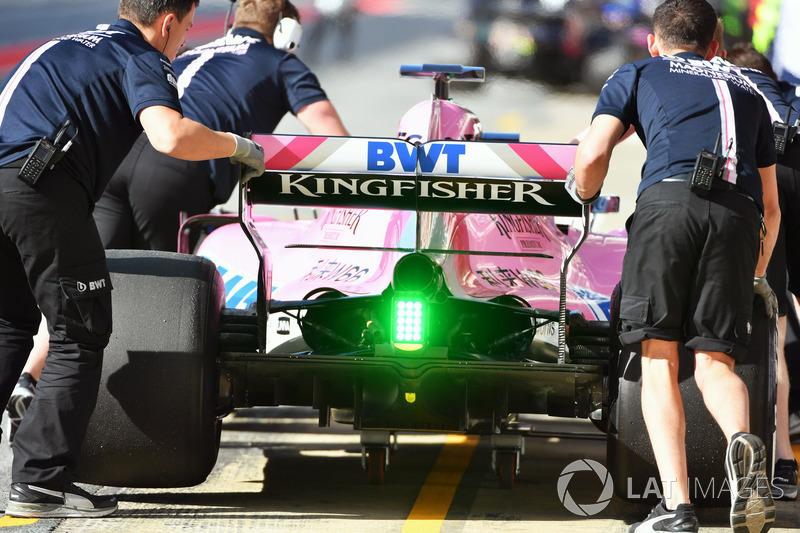 Force India VJM11, dettaglio posteriore