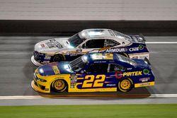 Ryan Blaney, Team Penske, Ford Mustang Pirtek and Justin Allgaier, JR Motorsports, Chevrolet Camaro Breyers 2in1