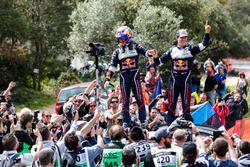 Les vainqueurs Sébastien Ogier, Julien Ingrassia, M-Sport Ford WRT Ford Fiesta WRC