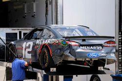 Unfallauto von Ryan Blaney, Team Penske Ford