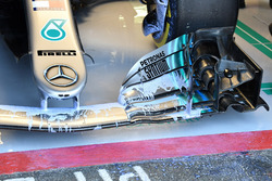 Mercedes-AMG F1 W09 front wing with aero paint