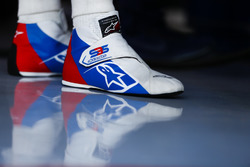 The boots of Sergey Sirotkin, Williams