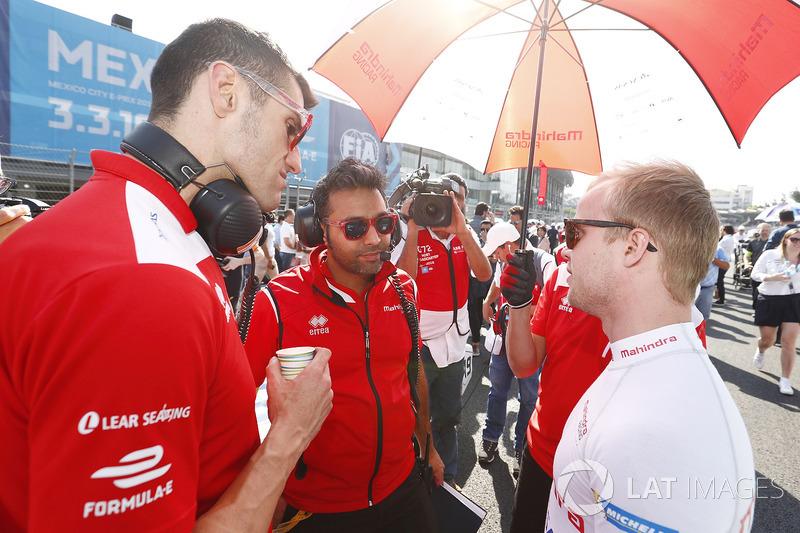 Felix Rosenqvist, Mahindra Racing, en la parrilla