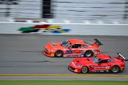 #23 TA Chevrolet Corvette: Amy Ruman of Ruman Racing, #55 TA2 Ford Mustang: Maurice Hull of Silver Hare Racing