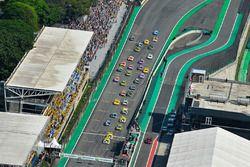 Largada da Stock Car em Interlagos
