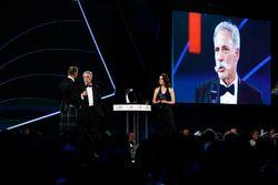 David Coulthard parle à Chase Carey, directeur exécutif du Formula One Group