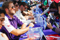 Sam Bird, DS Virgin Racing, at the autograph signing session