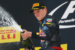 Podium: winner Max Verstappen, Red Bull Racing