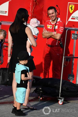 Minttu Virtanen, wife of Kimi Raikkonen, Ferrari, with daughter Rianna Raikkonen