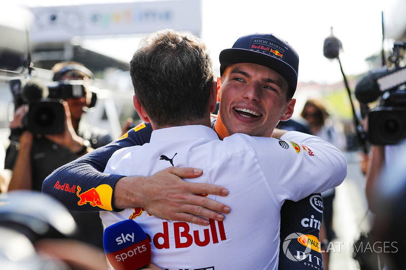 Max Verstappen, Red Bull Racing, Helmut Markko, Consultant, Red Bull Racing