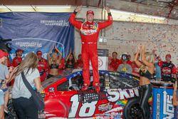 Race winner Kyle Busch, Joe Gibbs Racing, Toyota Camry Skittles Red White & Blue