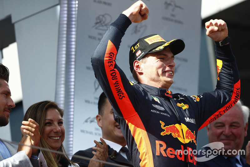 Podium : Race winner Max Verstappen, Red Bull Racing