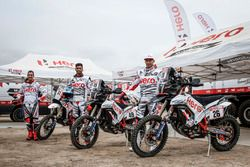 #61 Hero MotoSports Team Rally: Oriol Mena, #49 Hero MotoSports Team Rally: CS Santosh, #26 Hero MotoSports Team Rally: Joaquim Rodrigues