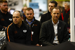The Ginetta LMP1 car is launched, Ginetta boss Lawrence Tomlinson wears a pinstripe suit