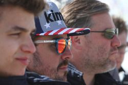 Lando Norris, Fernando Alonso, Zak Brown, United Autosports