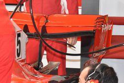 Aileron arrière de la voiture dee Sebastian Vettel, Ferrari SF71H