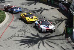 #25 BMW Team RLL BMW M8, GTLM: Alexander Sims, Connor de Phillippi, #4 Corvette Racing Chevrolet Corvette C7.R, GTLM: Oliver Gavin, Tommy Milner, #66 Chip Ganassi Racing Ford GT, GTLM: Dirk Müller, Joey Hand