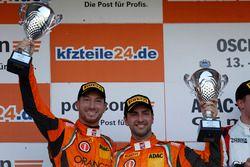 Podium: second place #63 ORANGE1 by GRT Grasser Lamborghini Huracán GT3: Andrea Caldarelli, Mirko Bo