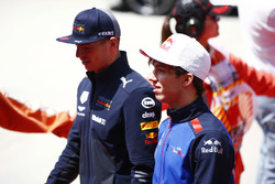 Max Verstappen, Red Bull Racing, and Pierre Gasly, Toro Rosso