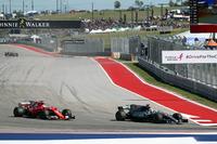 Lewis Hamilton, Mercedes AMG F1 W08 passes Sebastian Vettel, Ferrari SF70-H