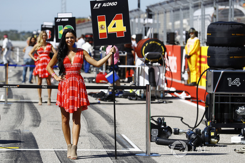 La grid girl di Fernando Alonso, McLaren