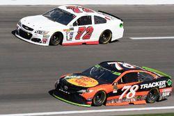 Martin Truex Jr., Furniture Row Racing Toyota, Cole Whitt, TriStar Motorsports Chevrolet
