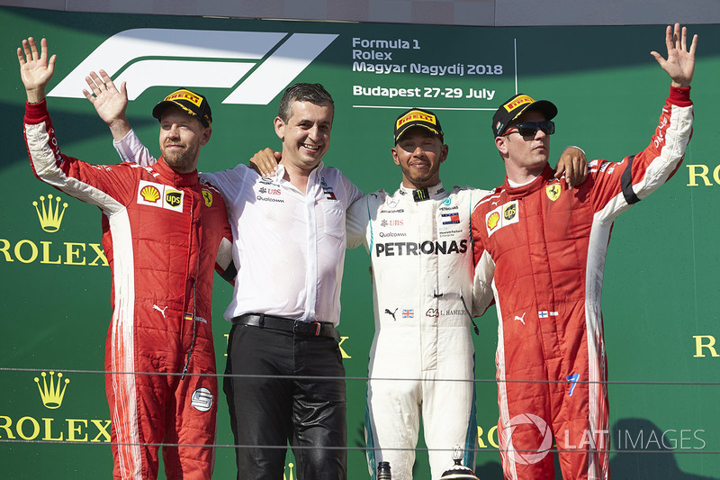 Terceiro colocado na Hungria, Kimi Raikkonen subiu no pódio pela oitava vez na temporada e pela quinta vez seguida