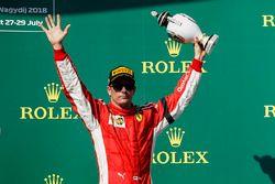 Podium: derde Kimi Raikkonen, Ferrari
