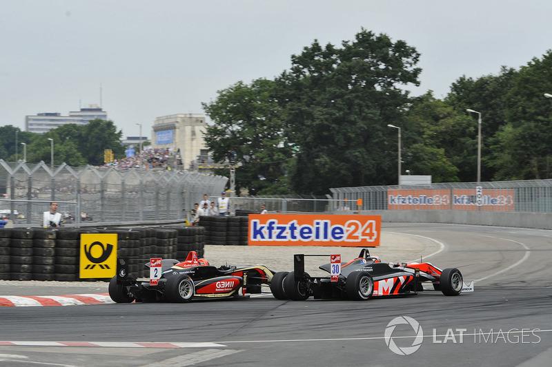Max Verstappen, Van Amersfoort Racing y Esteban Ocon, Prema Powerteam