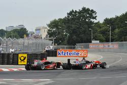 Max Verstappen, Van Amersfoort Racing leads Esteban Ocon, Prema Powerteam